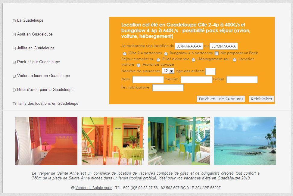 Séjour pas cher en Guadeloupe pour l'été 2013